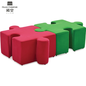 Kids school Buzzi puzzle stool ottoman pouf for indian