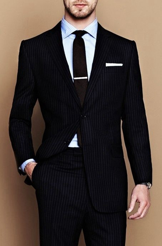 100% Wool Custom Mens Suits High Quality Bespoke Suit Elegant Suit ...