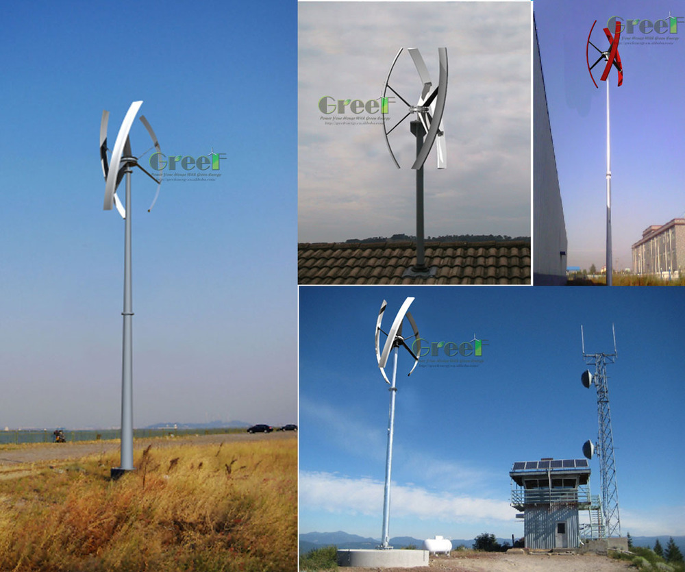 Small Wind Turbine For Home Use Part - 16: Domestic Vertical Axis Wind Generator, 1kw Small Windmill Generator Home Use,  Mini
