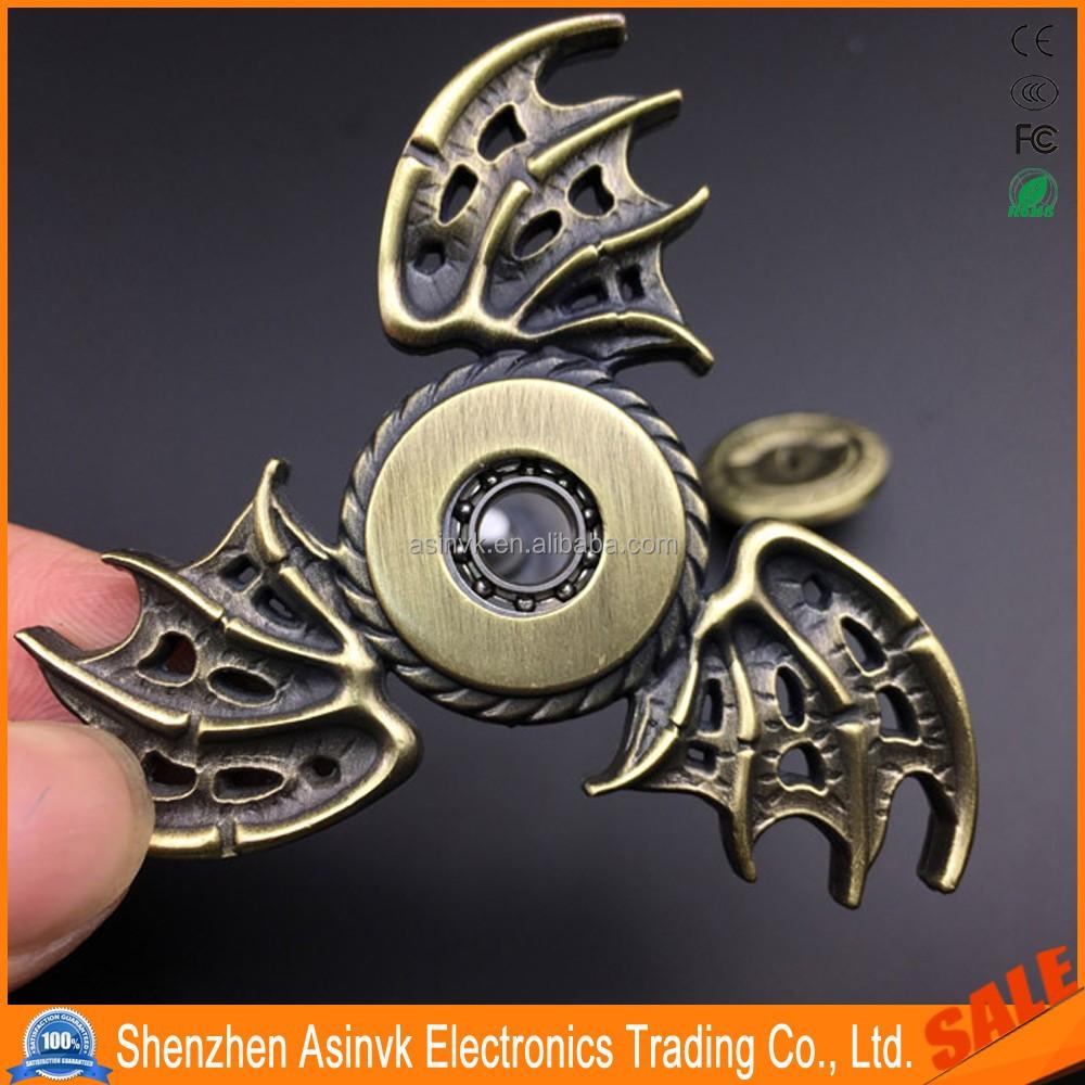 Tri Spinner Dragon Wings Demons Eye Retro Vintage Hand Ckf Fidget Or Figdet Edc Toys For Focusadhdanti Stress Buy Relief High Speed Bearings
