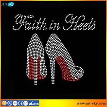Artsky competitive Fashion design RED Faith in Heels Stiletto shoes beads
