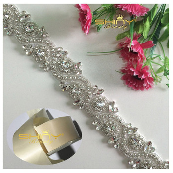 shinybeauty silver rhinestone diamante wedding bczflcs