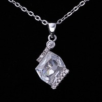 Wholesale different types of necklace chains jewelry chram crystal pendant