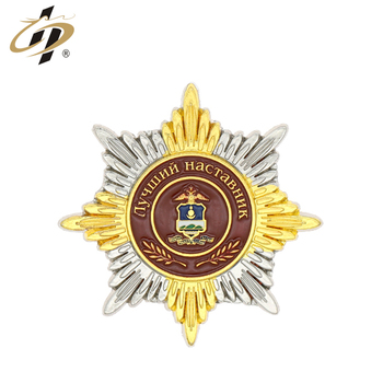 2018 Cheap high quality military souvenir metal badges with box