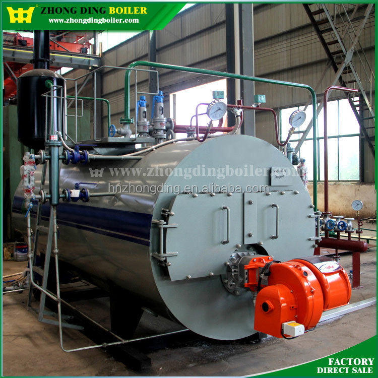 Natural gas/oil/LPG/LNG fuel horizontal steam boiler automatic operation