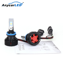 Anycarled 50W 36W H13 H4 Cob Custom Motorcycle Fanless H1 H11 Car Led Headlight Bulb Motorcycle Led Headlight 40W 4000Lm