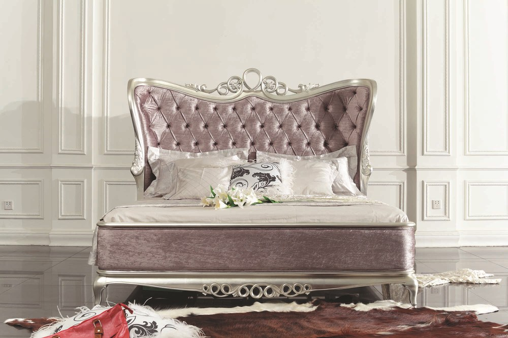 DXY  Hot Selling Rococo Style Bed New Classic Bedroom Furniture Bed Woden