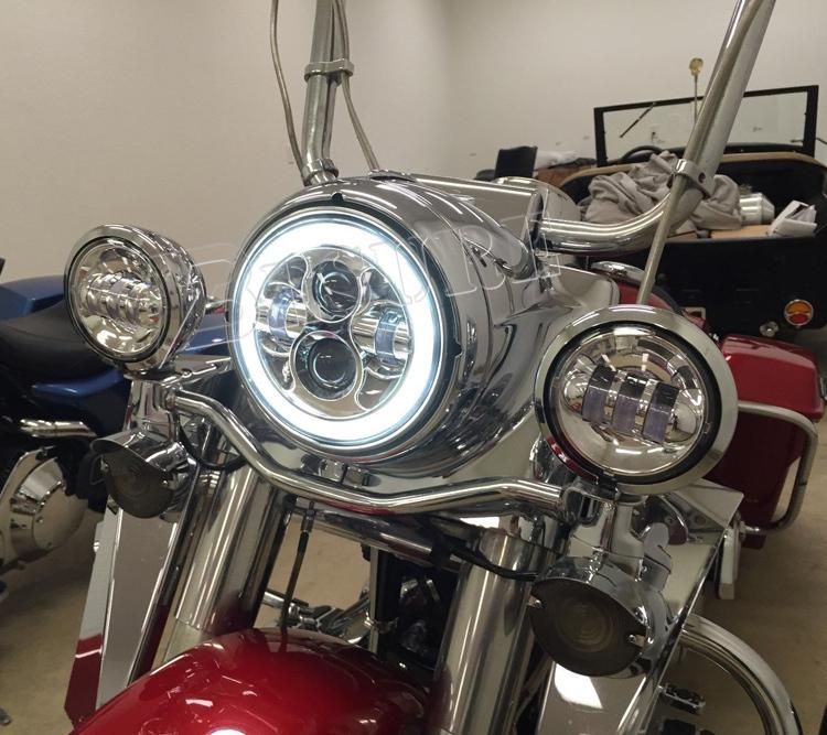 7 auto led scheinwerfer runde led kopf gl hbirne motorrad. Black Bedroom Furniture Sets. Home Design Ideas