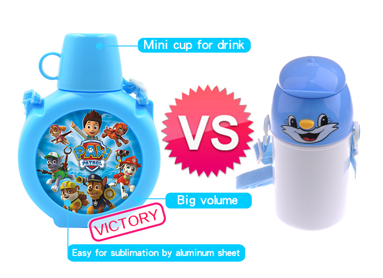 sublimation bottle for kids, 2017 new sublimation blanks double size printable bottle