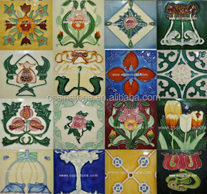 "Pure hand made painted ceramic tiles 3""x6"" ,6''x6''"