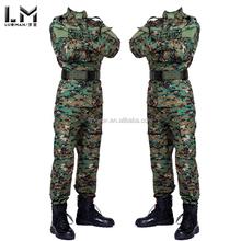 Digtal woodland camuflaje outdoor juro tactico militar combate bdu uniforme de entrenamiento masculina traje establece chaquetas