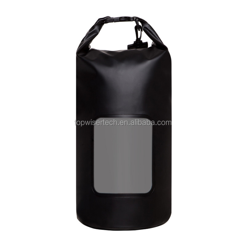 Custom Logo DryBag Upgrade Design Perspective Window Roll Top Dry Sack with Adjustable Shoulder Straps for Water Outdoor Sports