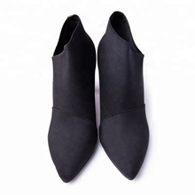 Hot Sale Autumn Casual Single Knit Fashion Outwear Shoes 85mm High Heels Pointed Toe Women Ankle Boots