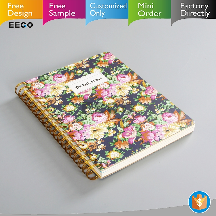 Wholesale thick hardcover flowers a4 b5 a6 a5 notebook