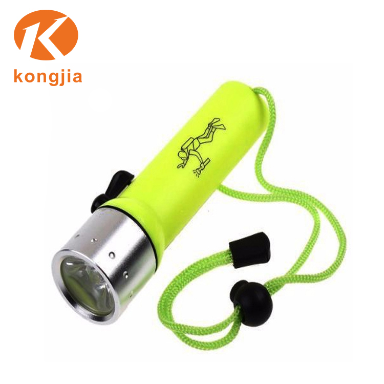 Professional Waterproof ABS LED Diving Flashlight 4*AA Dry Battery Diving Torch FlashLight lantern Underwater