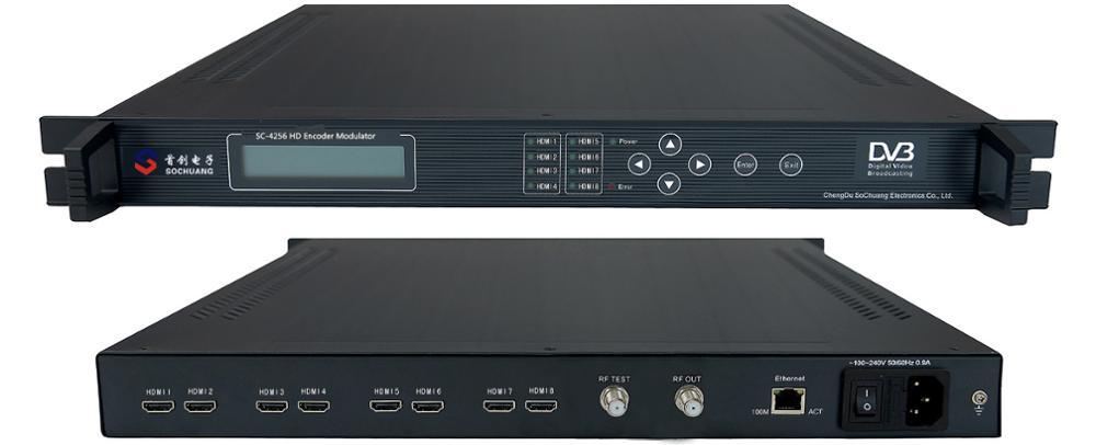 فندق الكيبل التلفزيوني hd h.264 التشفير dvb-t المغير (8 * HD في ، 2 * DVB-T RF خارج)