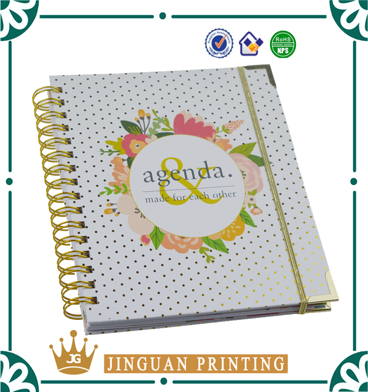 2018 Professional Wedding Planner Organizer Gold Spiral Book Day Notebook
