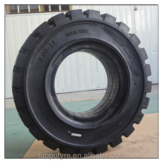 Economical industrial forklift solid tire, non marking solid wheel, 7.00-12