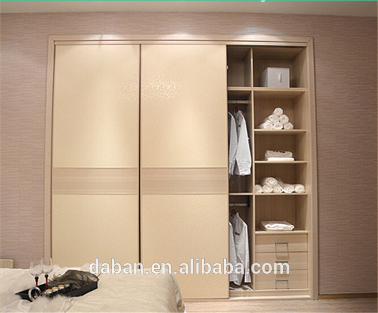 Jisheng wood uv coating plywood slididng door wardrobe for Bedroom designs plywood