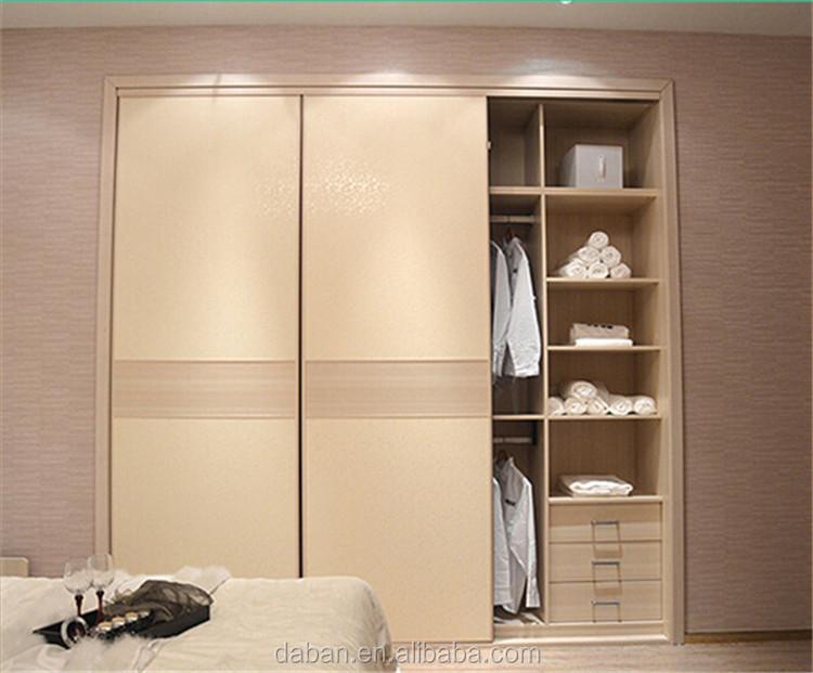 Jisheng Wood Uv Coating Plywood Slididng Door Wardrobe