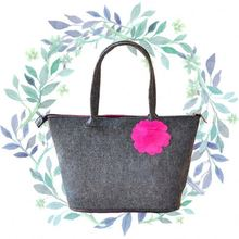 Non-woven tropic shopper tote bag