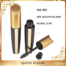 New plastic mascara container gold bottle mascara
