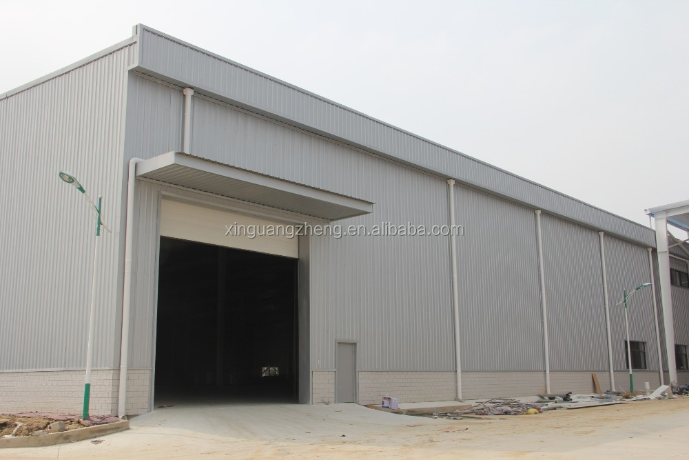 construction design and installation prefabricated warehouse factory steel structure building