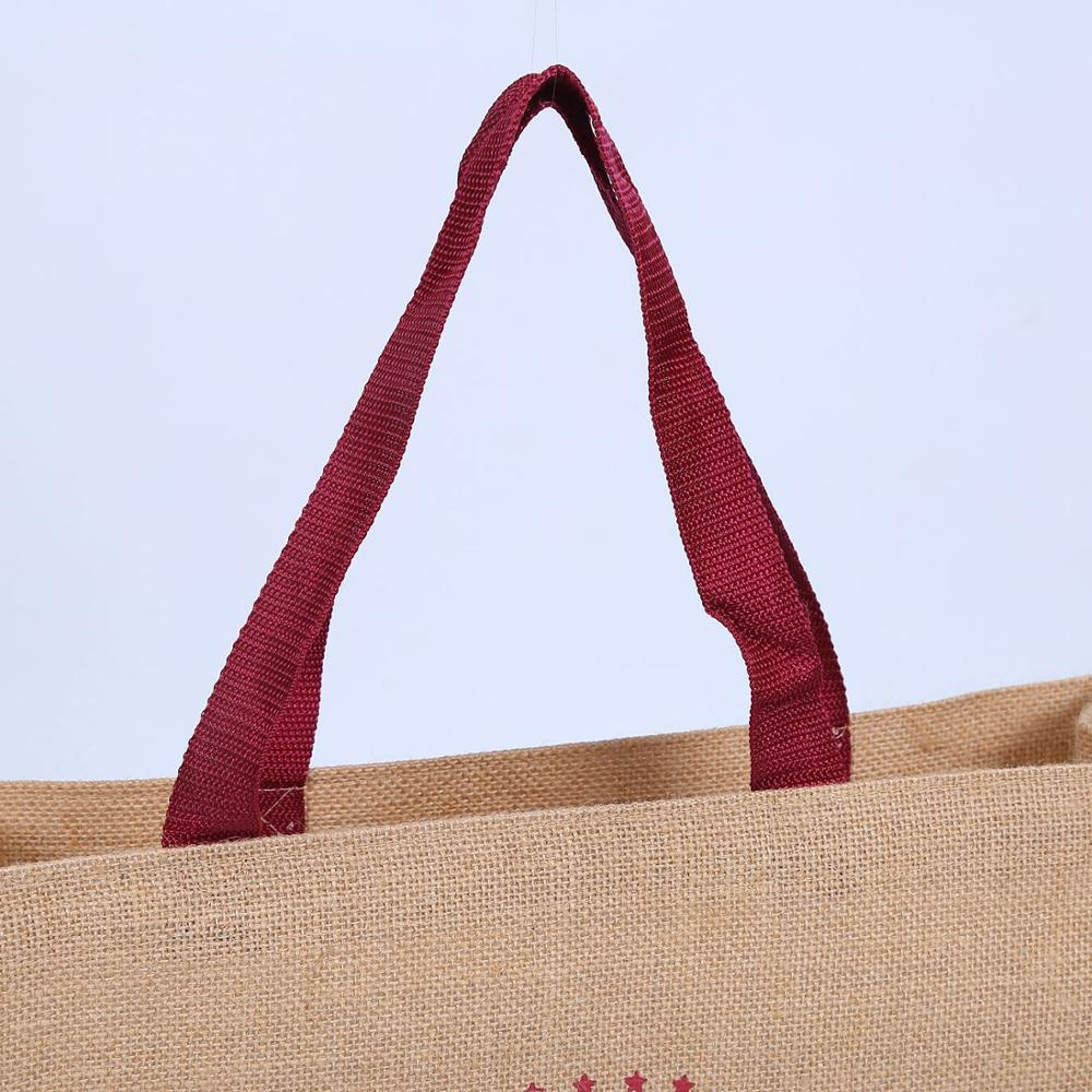 Promotional jute shopping bag