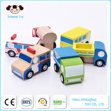 wholesale top fashion children wooden car toy, cute wooden meat wagon vehicle toy, superior wooden meat wagon vehicle toy