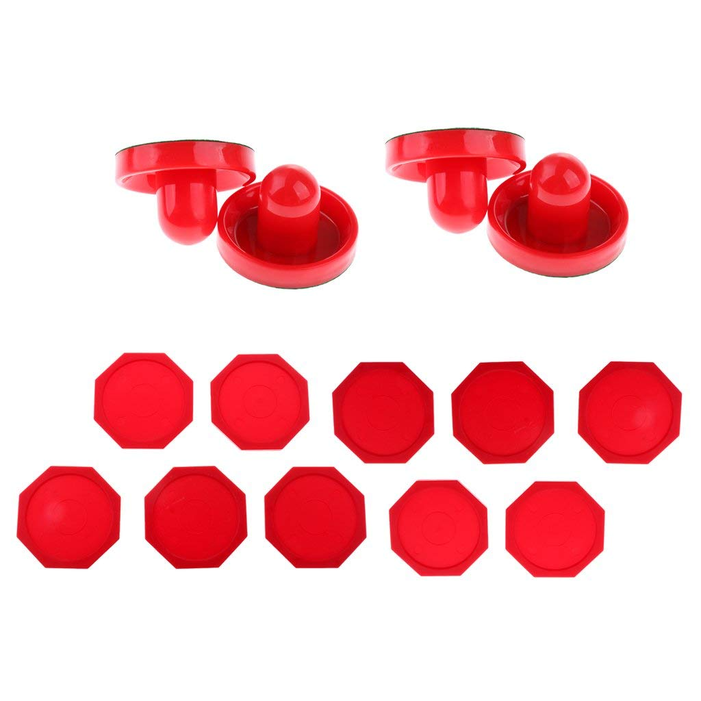 Sporting Goods Good One Dozen Large 3 1 4 Inch Red Air Hockey Pucks For Full Size Tables By Brybelly