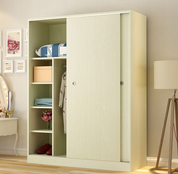 Modular kids wardrobes 2 doors with mirror for small bedroom wooden clothes wardrobe modern