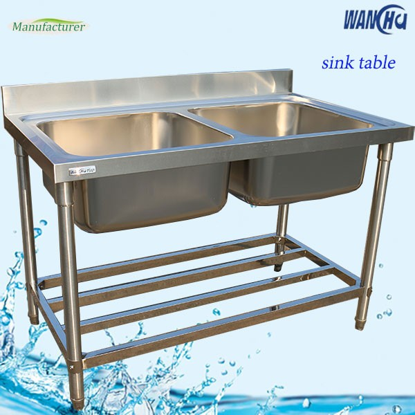 Unique Stainless Steel Restaurant Sink Working Table Kitchen Utensils Double Sink Work Table For Industrial Kitchen Catering Buy Unique Stainless