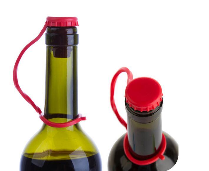 nuova cucina anti perso del silicone pulsante appeso condimento birra vino cork stopper plug tappo