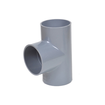 DIN PN10 UPVC Pipe Fitting Plastic 3 Way Connector PVC Pipe Equal Tee