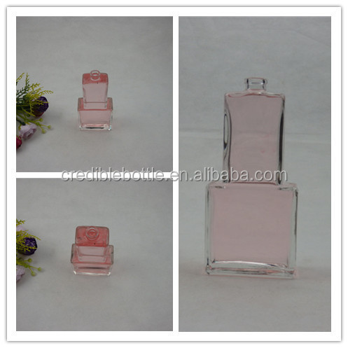 Wholesale nice crystal perfume bottle/glass cologne bottle