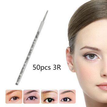 50 pcs 3R Aghi Microblading Schattierung Nadeln Agujas De Micro Micro Inlineskating Permanent Make Up Nadel