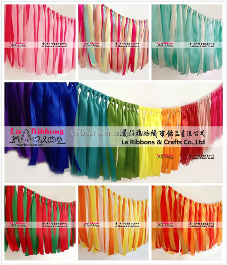 Factory Wholesale Event and Party Supplies Satin Ribbon Wall