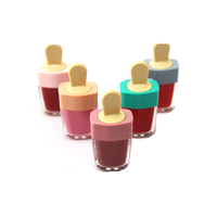 Imported wholesale makeup new design cute ice cream maquillaje private label lipstick liquid Moisturizer lip gloss