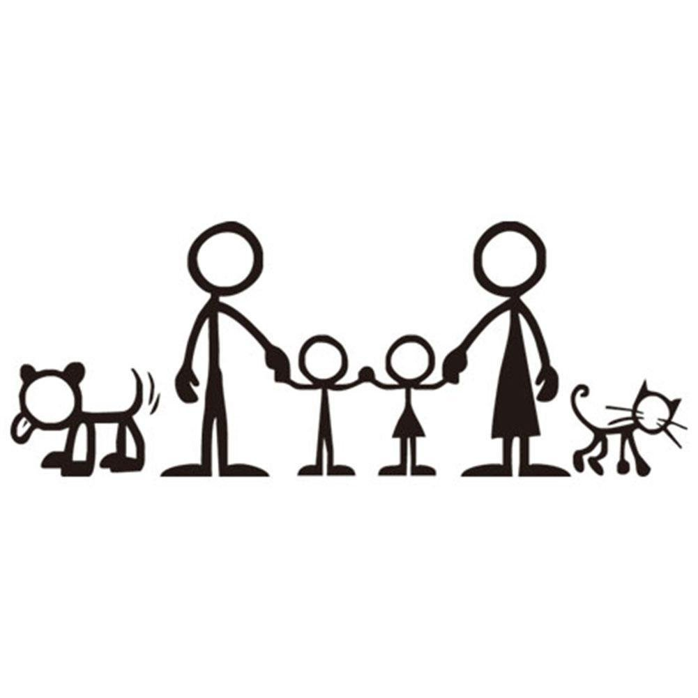 Get quotations · ruip creative waterproof auto decals eco friendly family picture car stickers cartoon funny window stickers