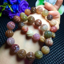 Sel naturel source agate <span class=keywords><strong>torsion</strong></span> perle bracelet en cristal pour la vente