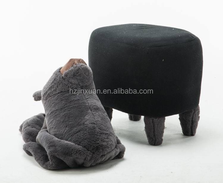 Jx colore bianco alpaca forma sgabello oem produrre pelliccia