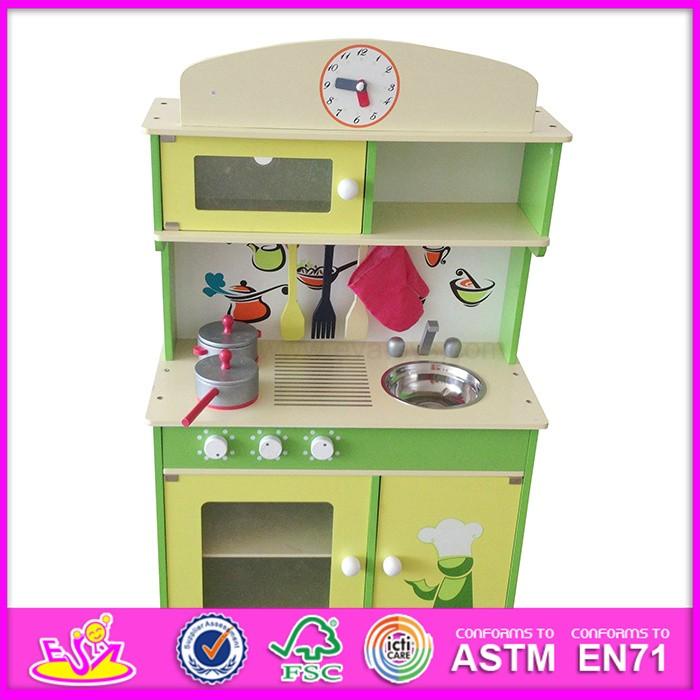 2016 New Wooden Toy Kitchen Design For Kids,kitchen Design For Children, Wooden Toy
