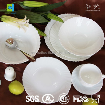 Ideal Home Use Tempered Glass Dinner Set 72 Pcs Opal - Buy Dinner Set 72  FL97