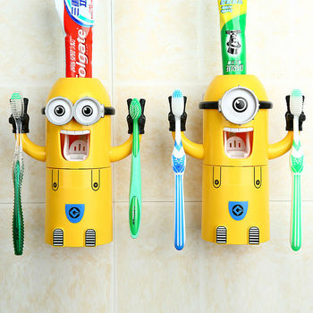 Attirant Minions Toothbrush Holder Kids Funny Bathroom Accessories