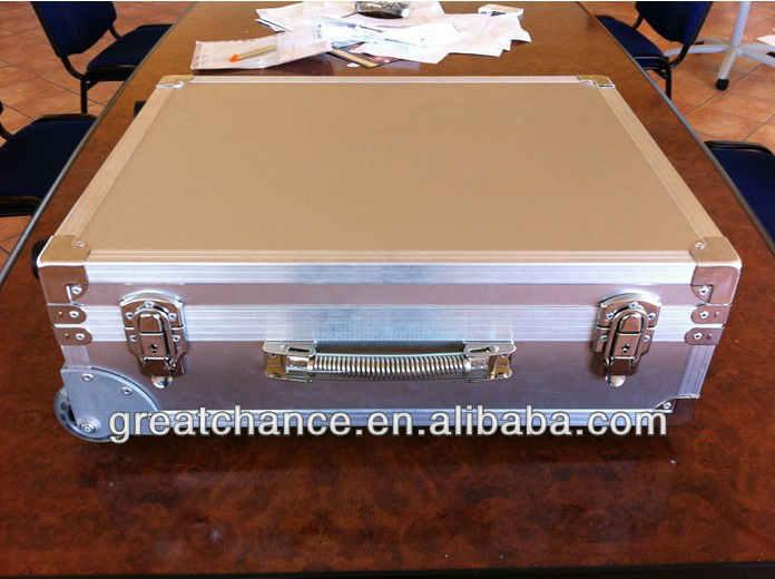 High quality rolling aluminum briefcase