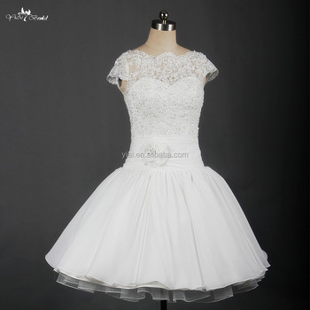 Rsw40 Cap Sleeves V Back Lace Puff Ball Gown Tutu Wedding Dress Cool Ball Gown Patterns