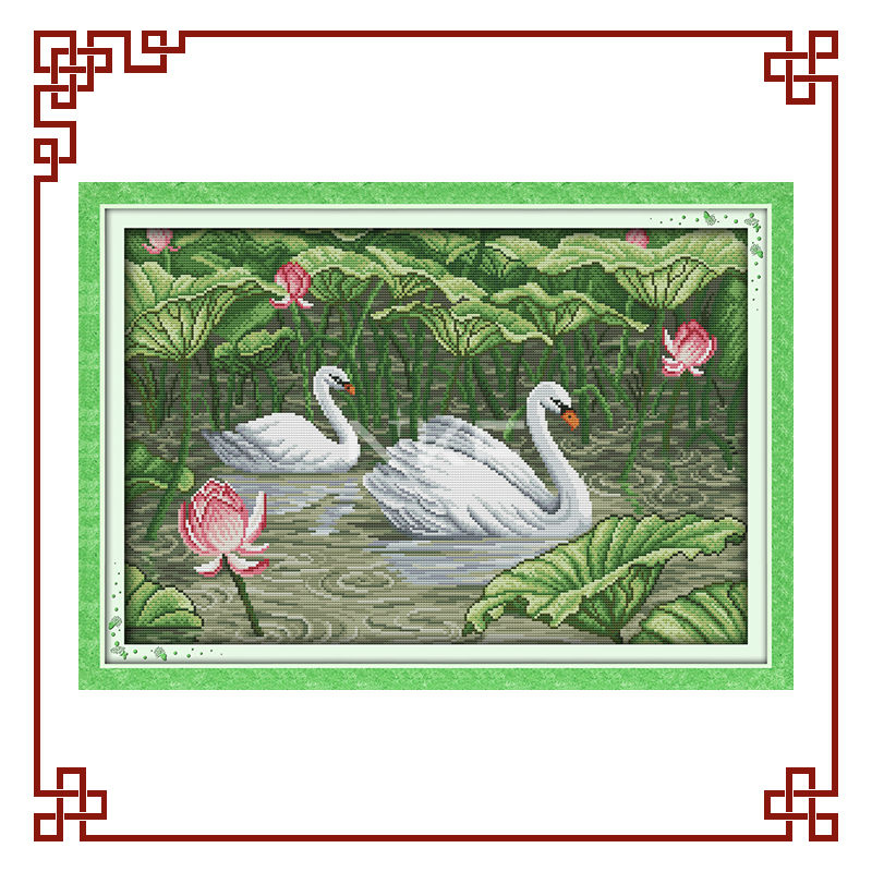 Nkf Swans In Lotus Pond(2) Cross Stitch Patterns
