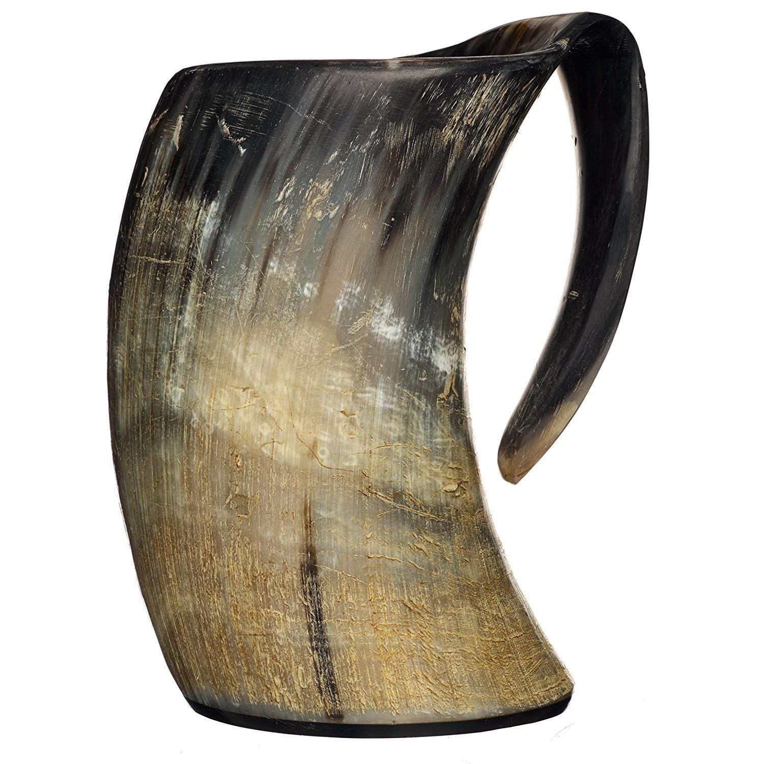 20oz Natural OX Horn Handcrafted Extra Large Viking Cup Drinking Horn Tankard