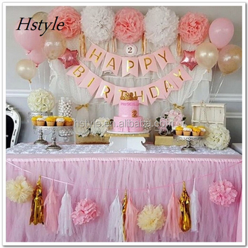 Baby Pink Gold White Baby Shower Decorations For Girl Sds030 Buy