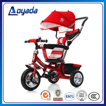 New model air wheel kids tricycle / baby tricycle for children / baby stroller with push handle on sale